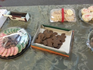 the un-iced cookies at the sing-a-long